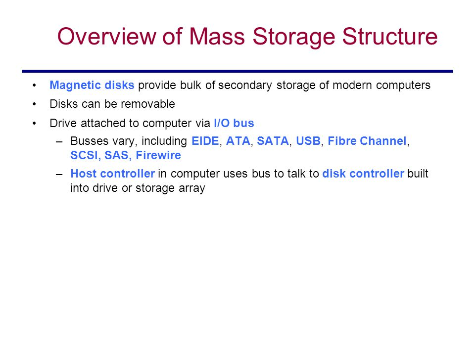 an overview of the use of mass storage since the 1951 A bare pc mass storage usb since these applications do not use any local mass storage  figure 1 architectural overview.