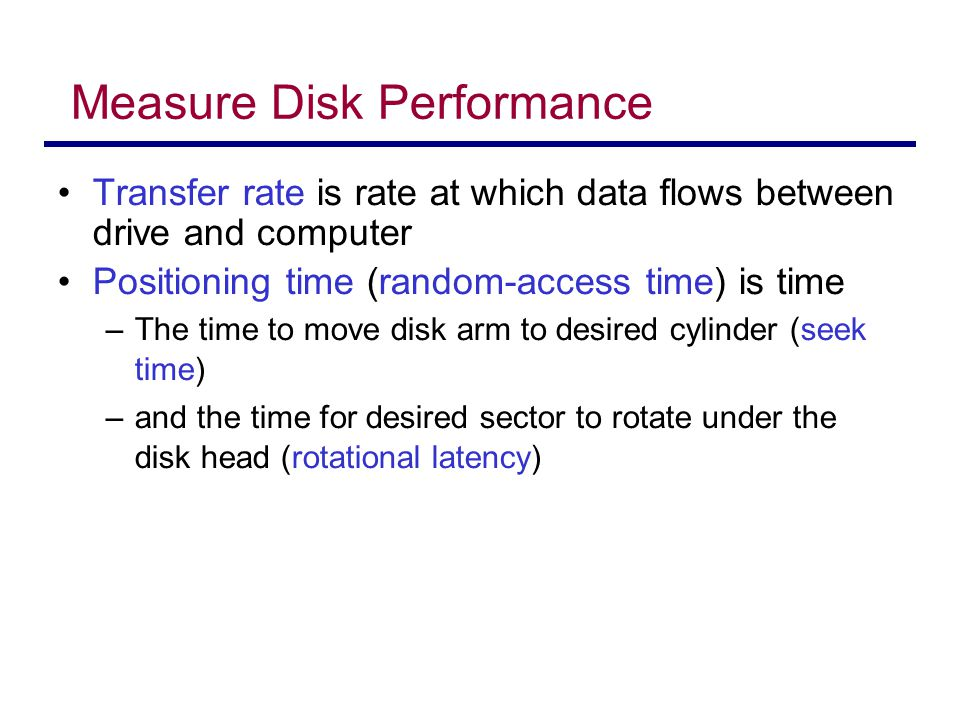 Measure Disk Performance