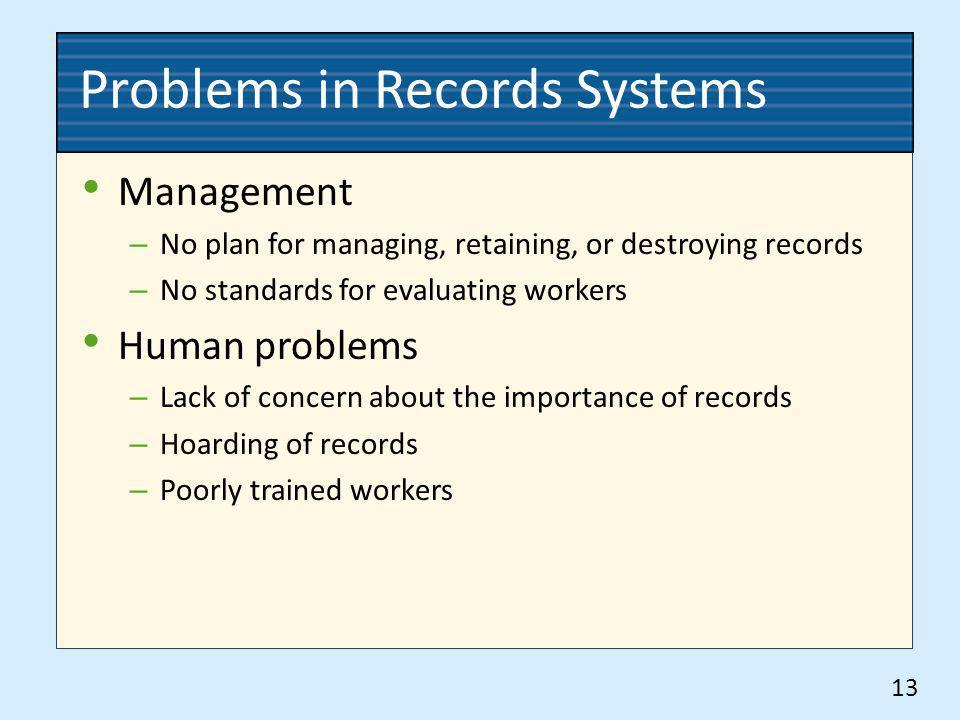 Problems in Records Systems