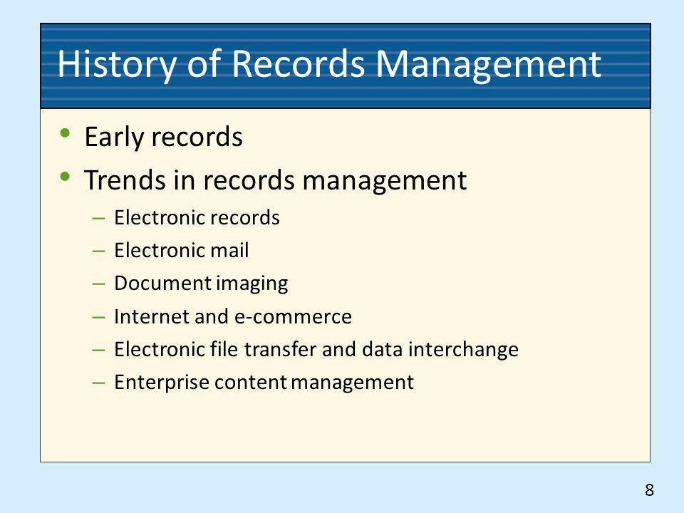 History of Records Management