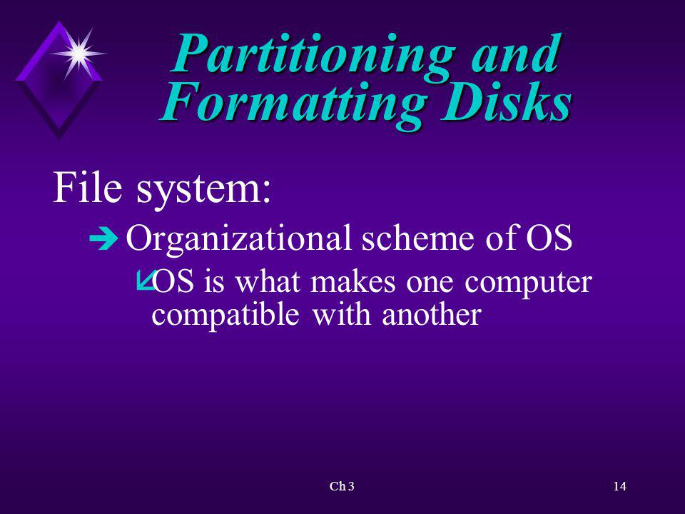 Partitioning and Formatting Disks