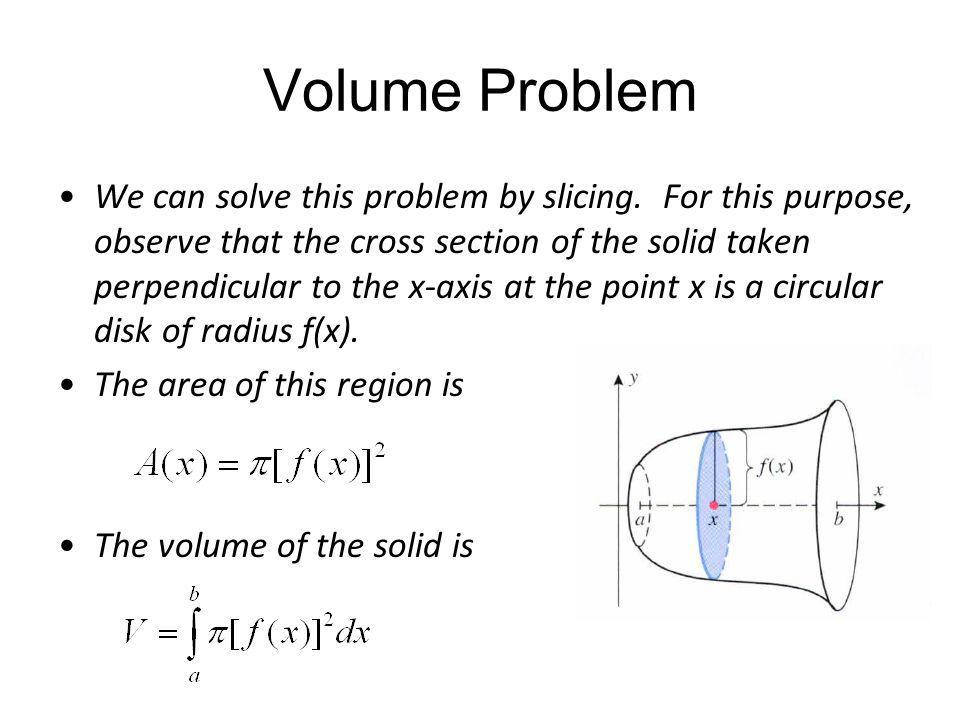 Volume Problem