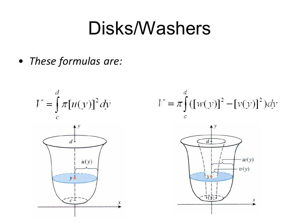 Disks/Washers These formulas are: