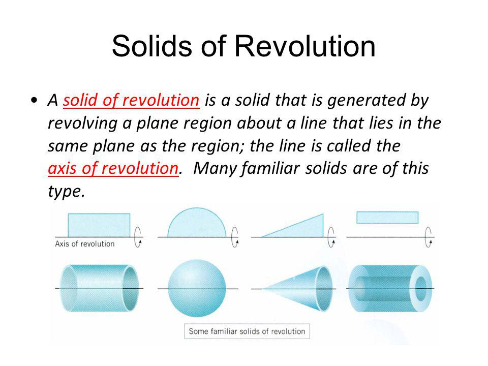 Solids of Revolution