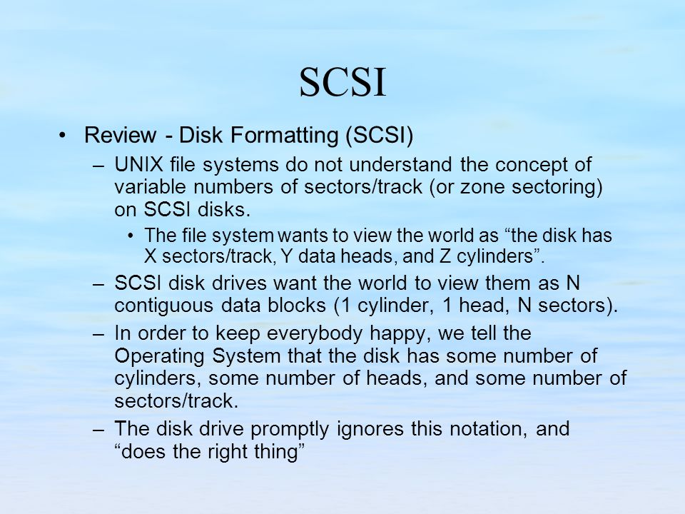 SCSI Review - Disk Formatting (SCSI)
