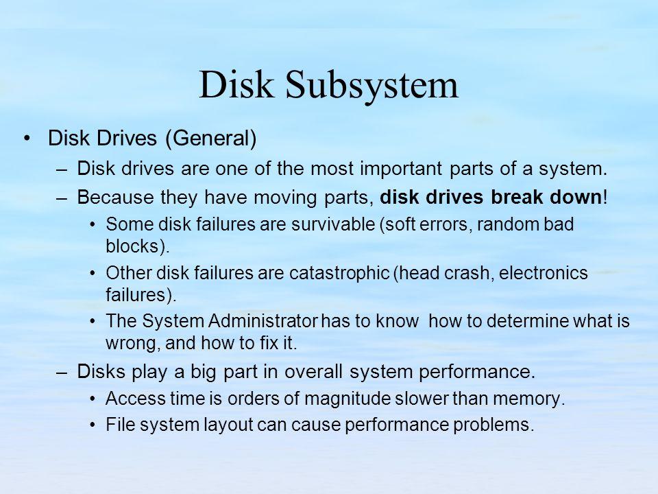 Disk Subsystem Disk Drives (General)