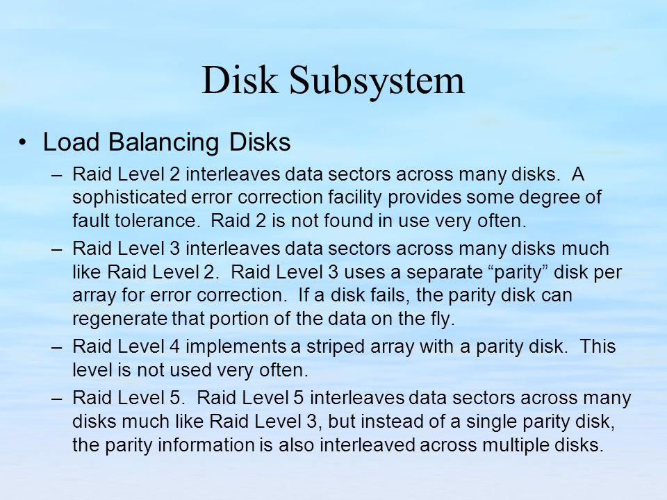 Disk Subsystem Load Balancing Disks