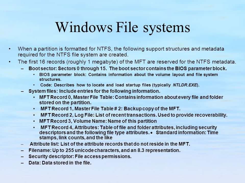 Windows File systems