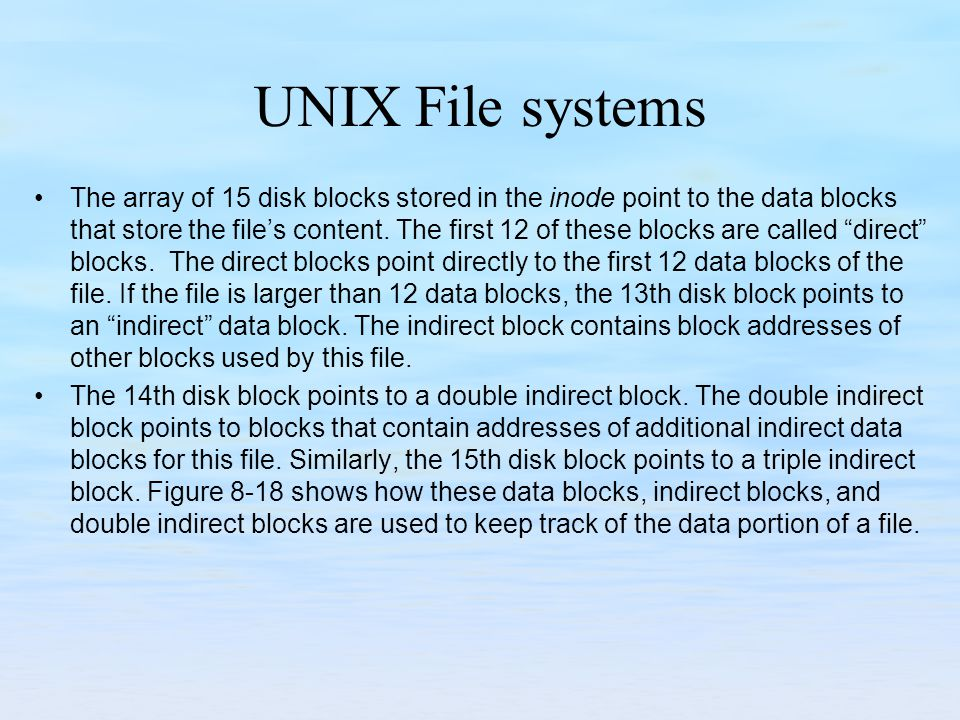 UNIX File systems