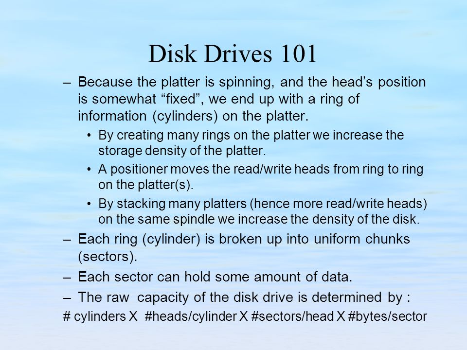 Disk Drives 101