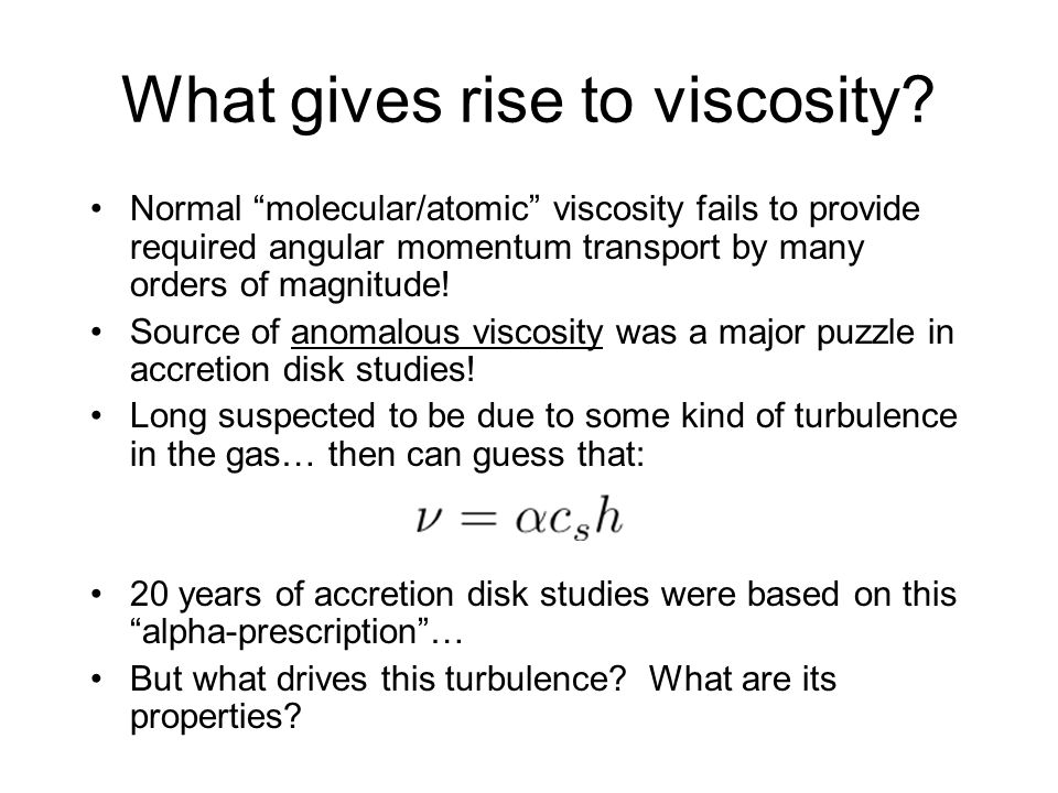 What gives rise to viscosity