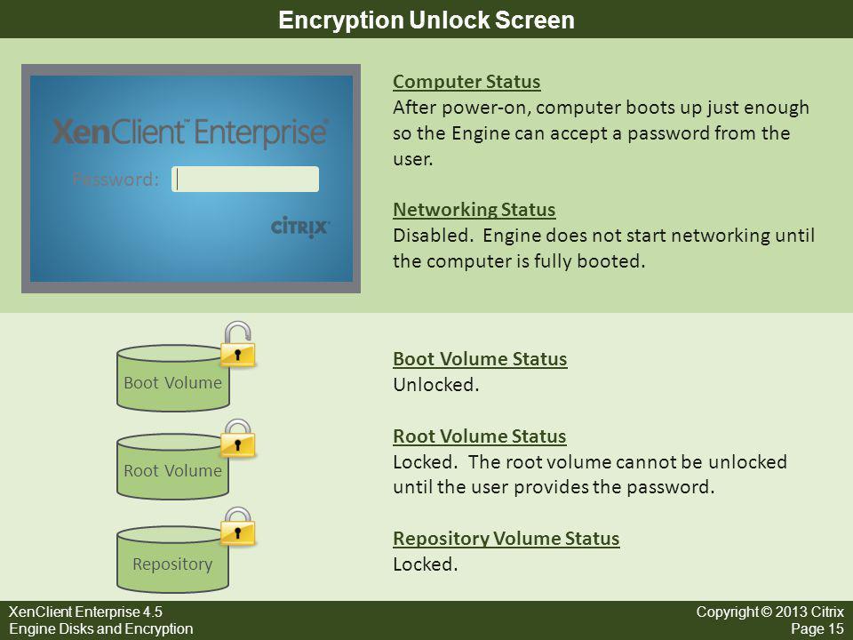 Encryption Unlock Screen
