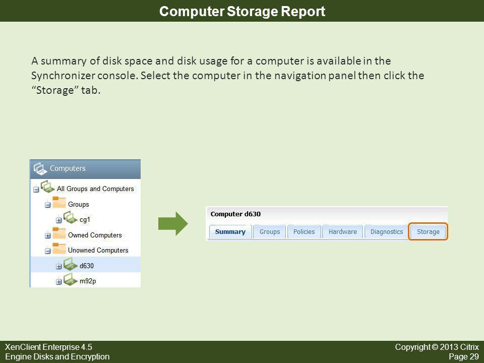 Computer Storage Report