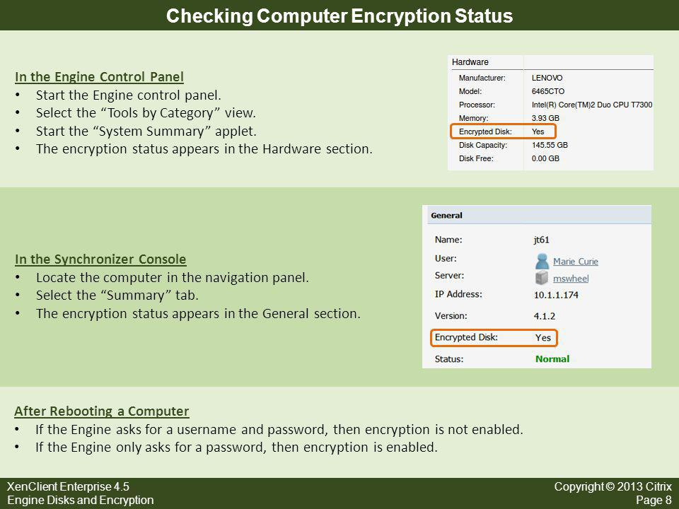 Checking Computer Encryption Status