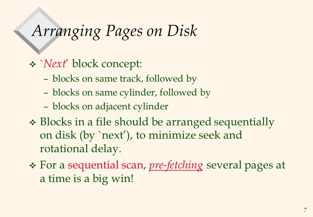 Arranging Pages on Disk
