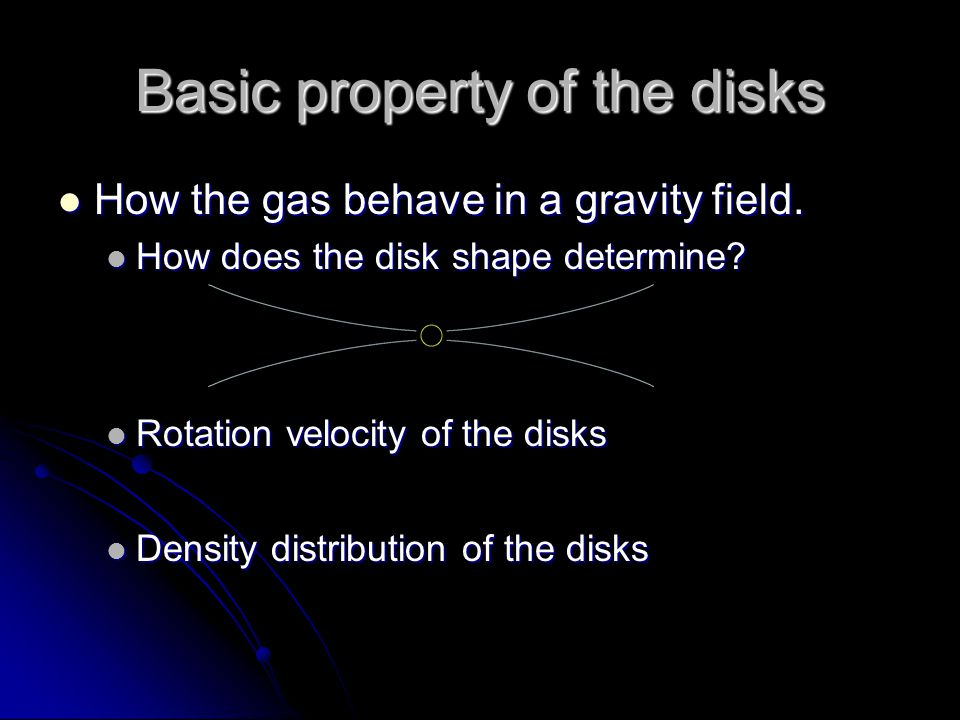 Basic property of the disks