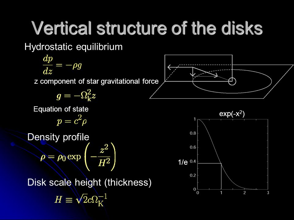Vertical structure of the disks