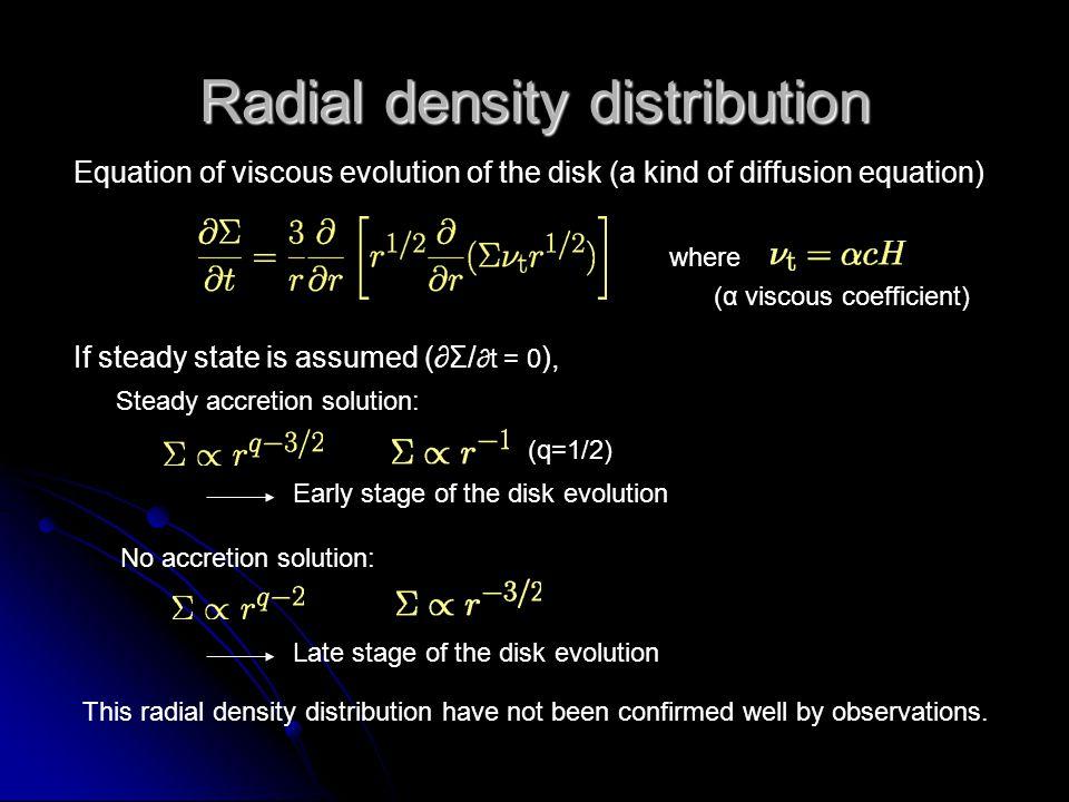 Radial density distribution