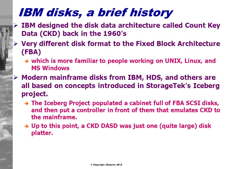 IBM disks, a brief history
