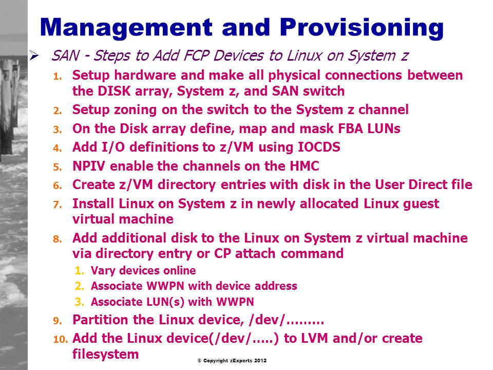 Management and Provisioning