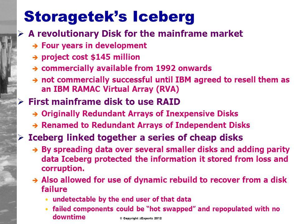 Storagetek's Iceberg A revolutionary Disk for the mainframe market