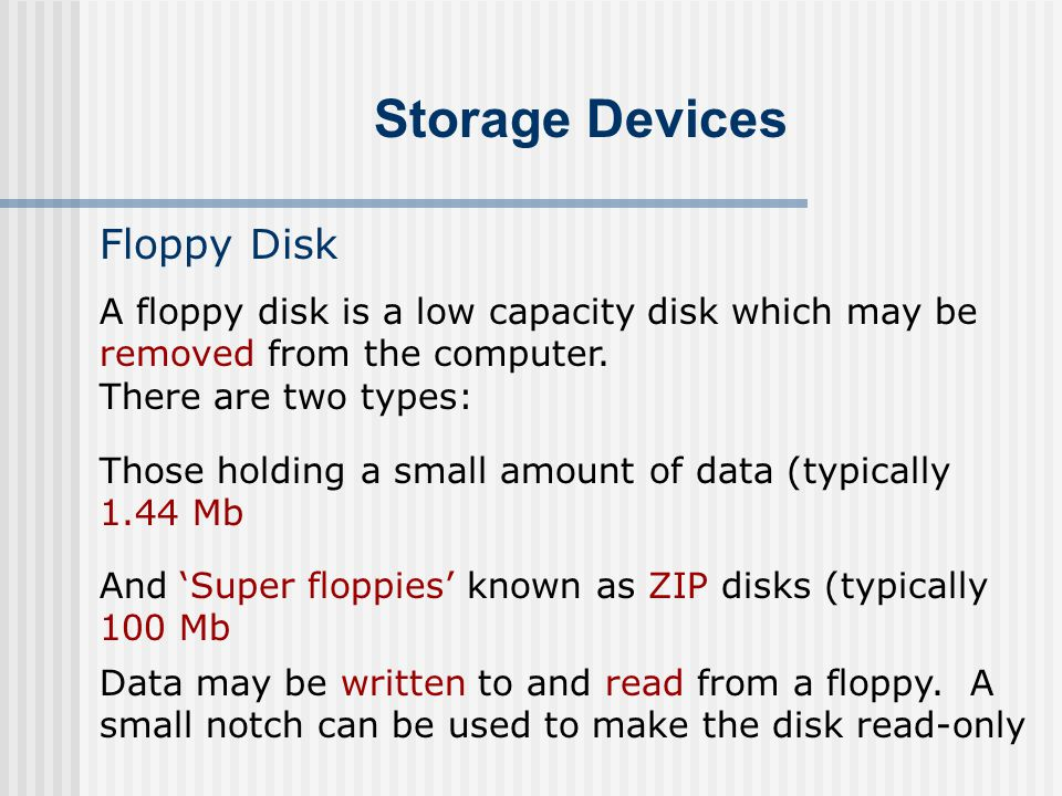 Storage Devices Floppy Disk