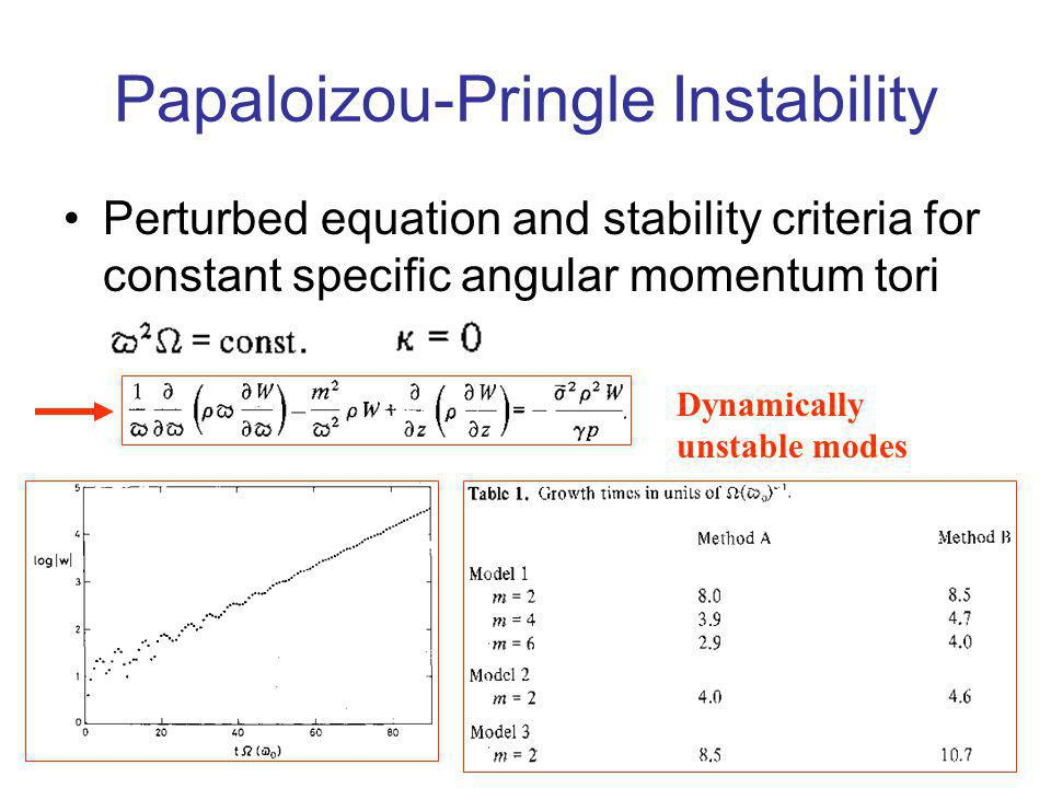 Papaloizou-Pringle Instability