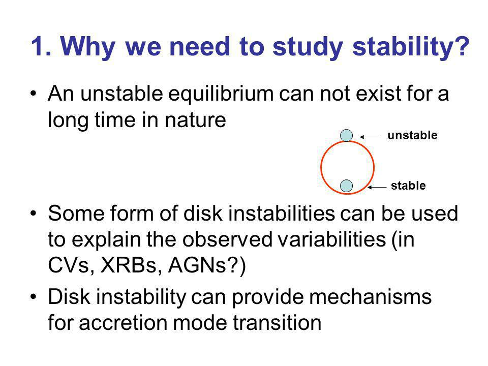 1. Why we need to study stability