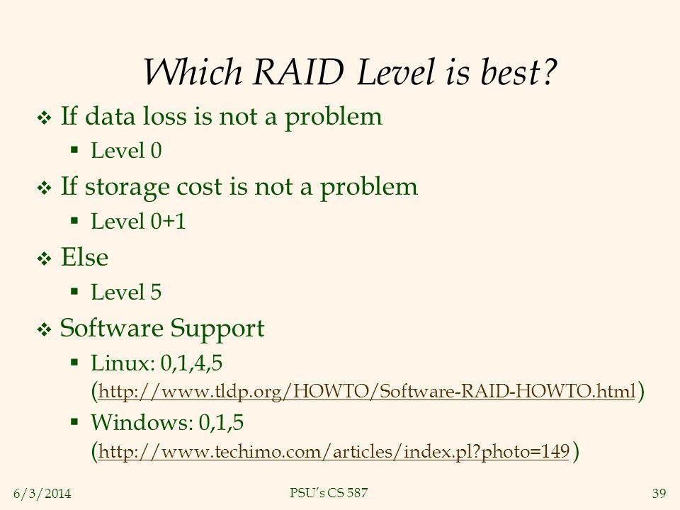 Which RAID Level is best