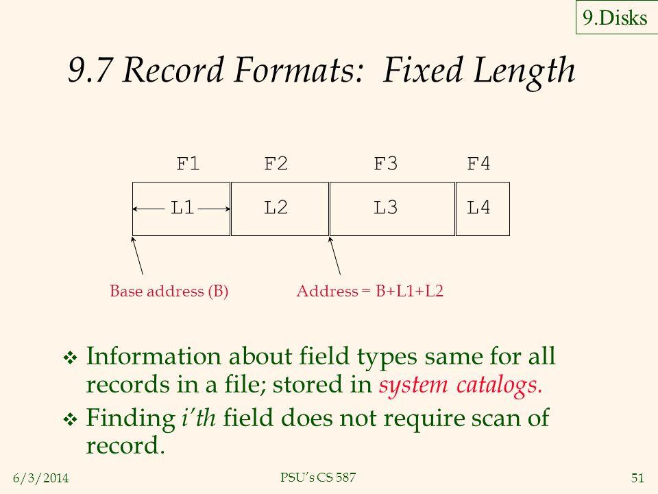 9.7 Record Formats: Fixed Length
