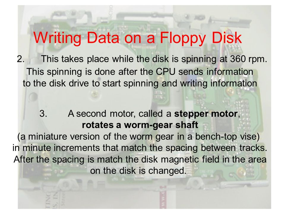Writing Data on a Floppy Disk 2