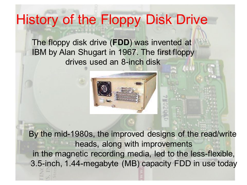 History of the Floppy Disk Drive