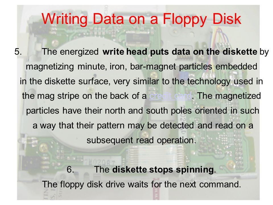 Writing Data on a Floppy Disk