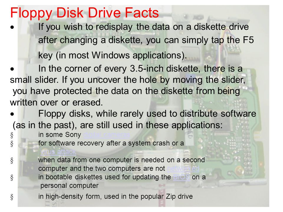 Floppy Disk Drive Facts