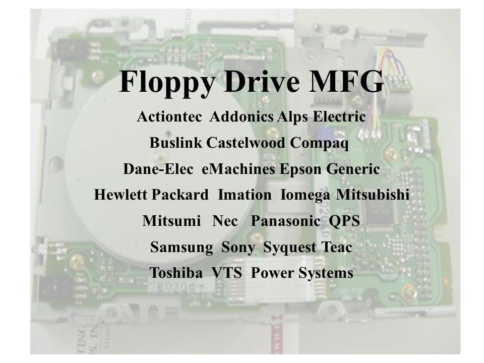 Floppy Drive MFG Actiontec Addonics Alps Electric