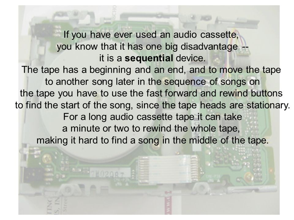 If you have ever used an audio cassette,