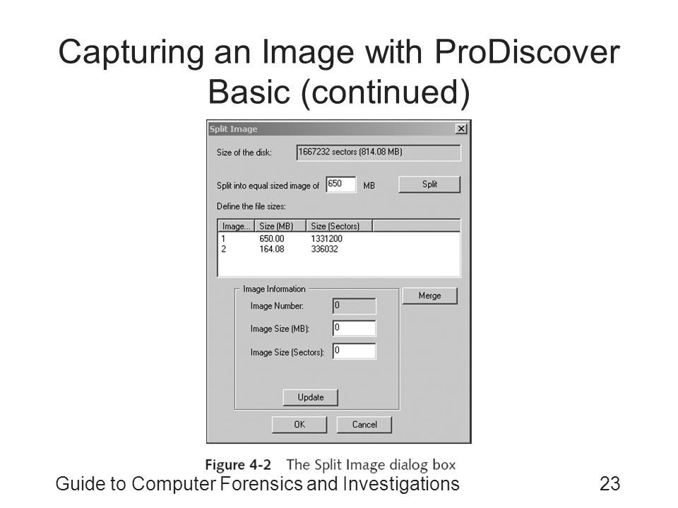 Capturing an Image with ProDiscover Basic (continued)