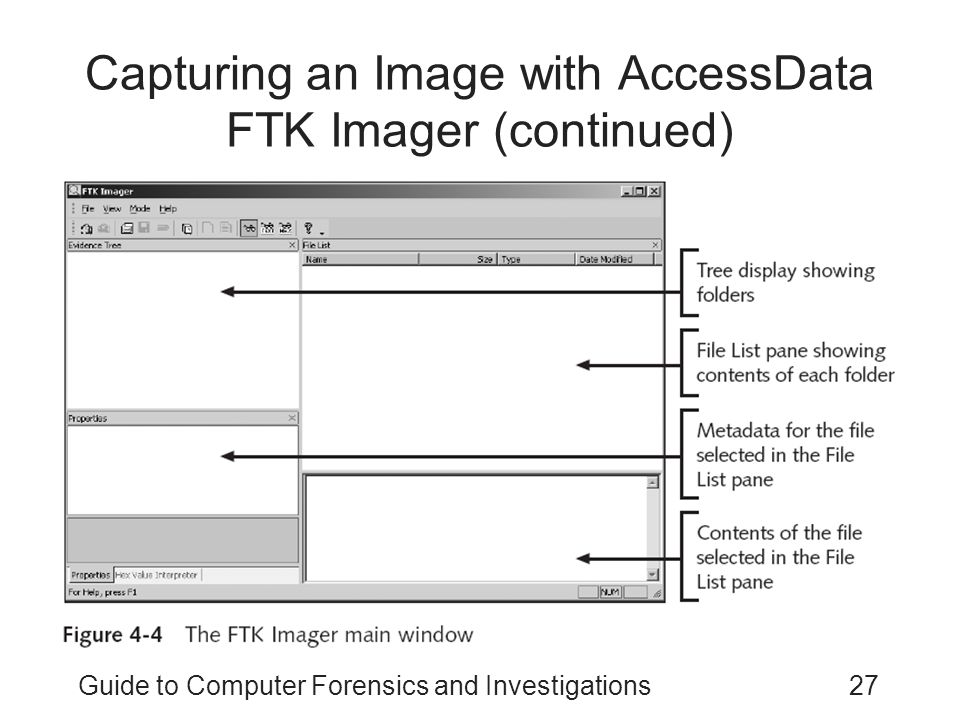 Capturing an Image with AccessData FTK Imager (continued)