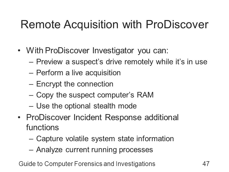 Remote Acquisition with ProDiscover