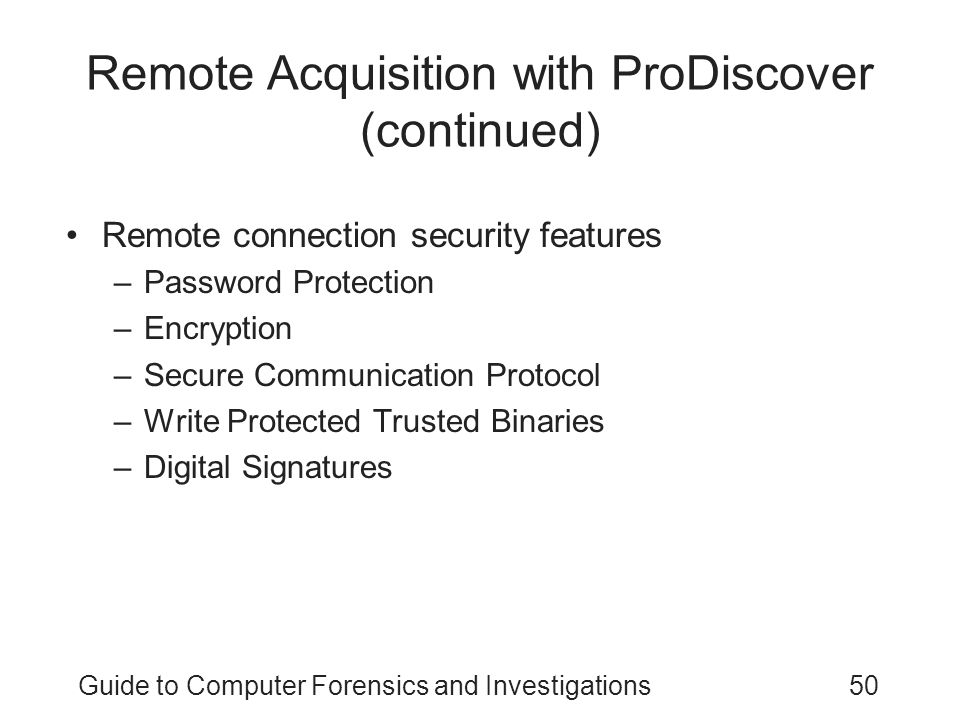 Remote Acquisition with ProDiscover (continued)