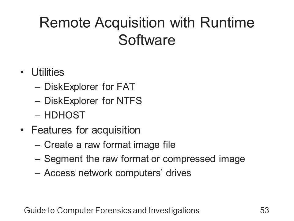 Remote Acquisition with Runtime Software
