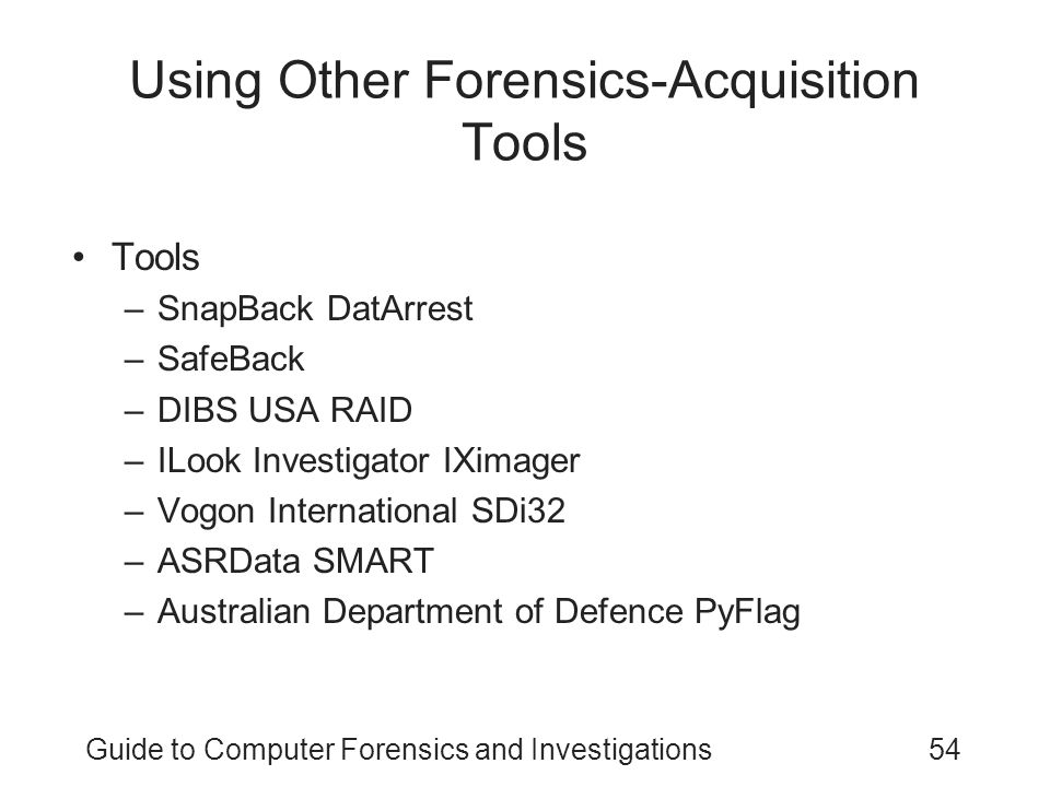 Using Other Forensics-Acquisition Tools