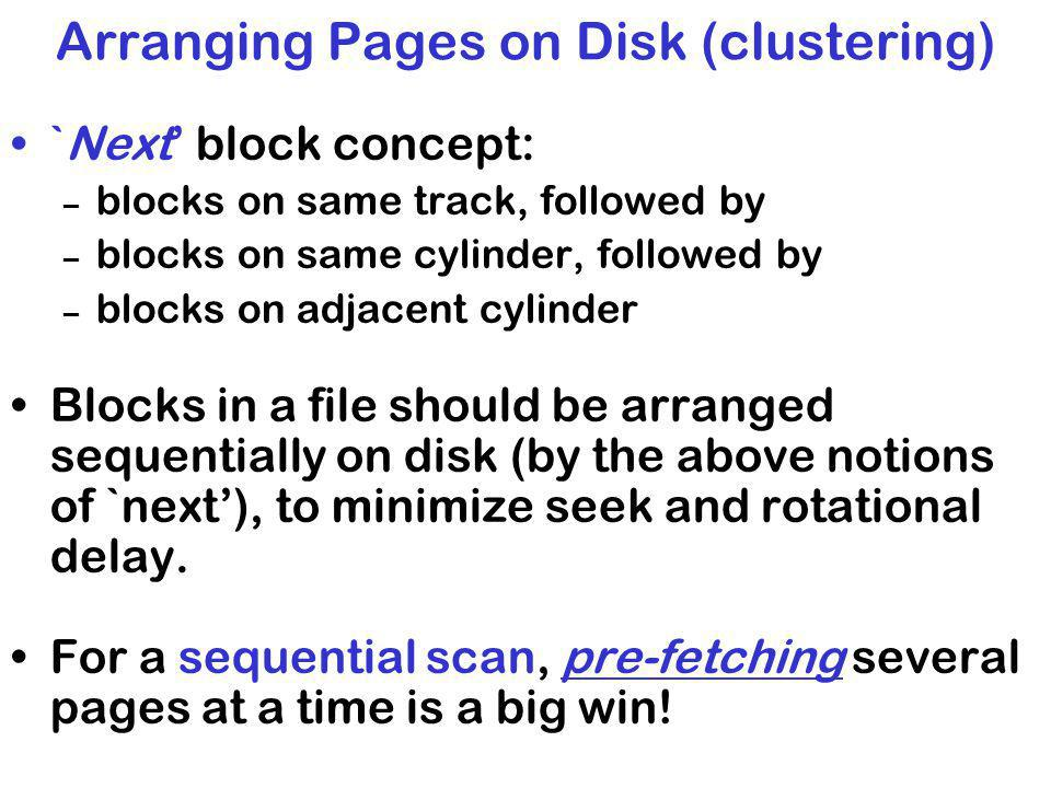 Arranging Pages on Disk (clustering)