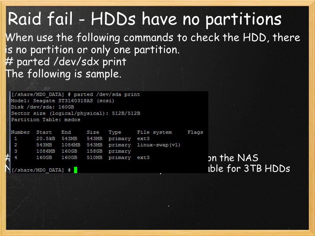 Raid fail - HDDs have no partitions