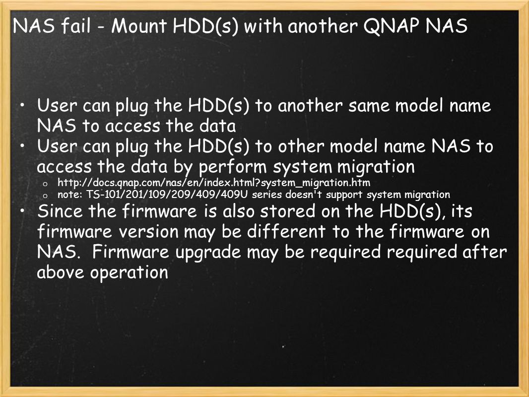 NAS fail - Mount HDD(s) with another QNAP NAS