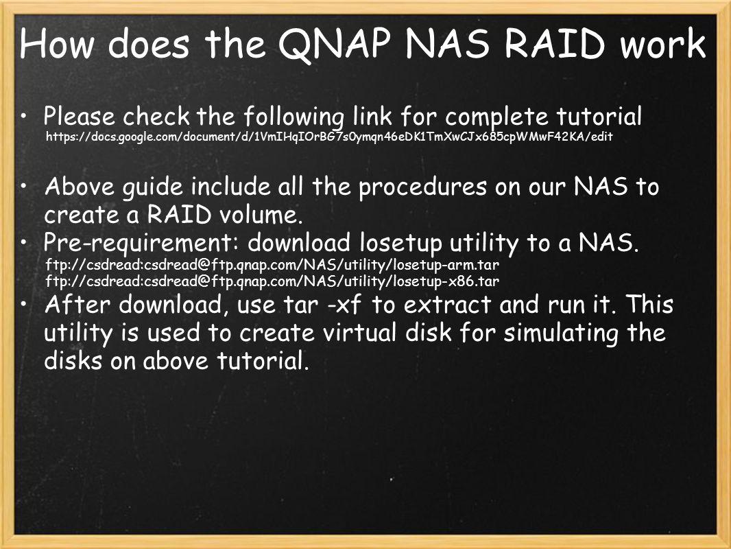 How does the QNAP NAS RAID work