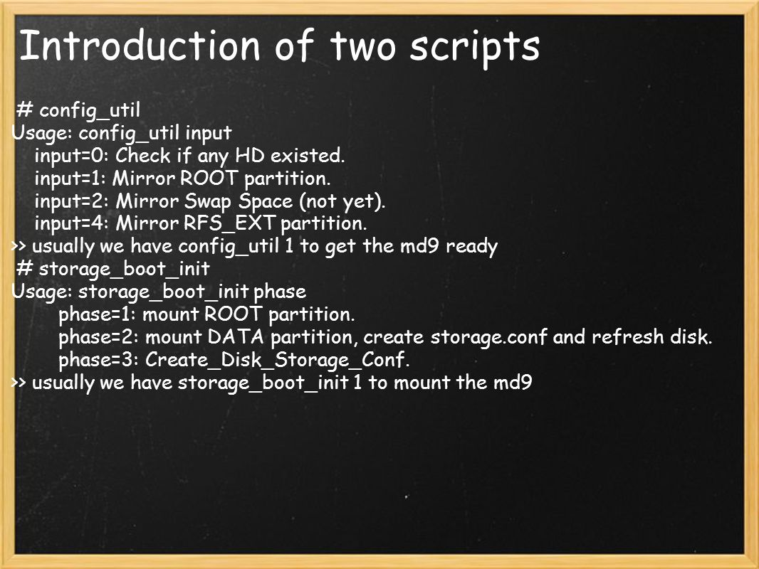 Introduction of two scripts