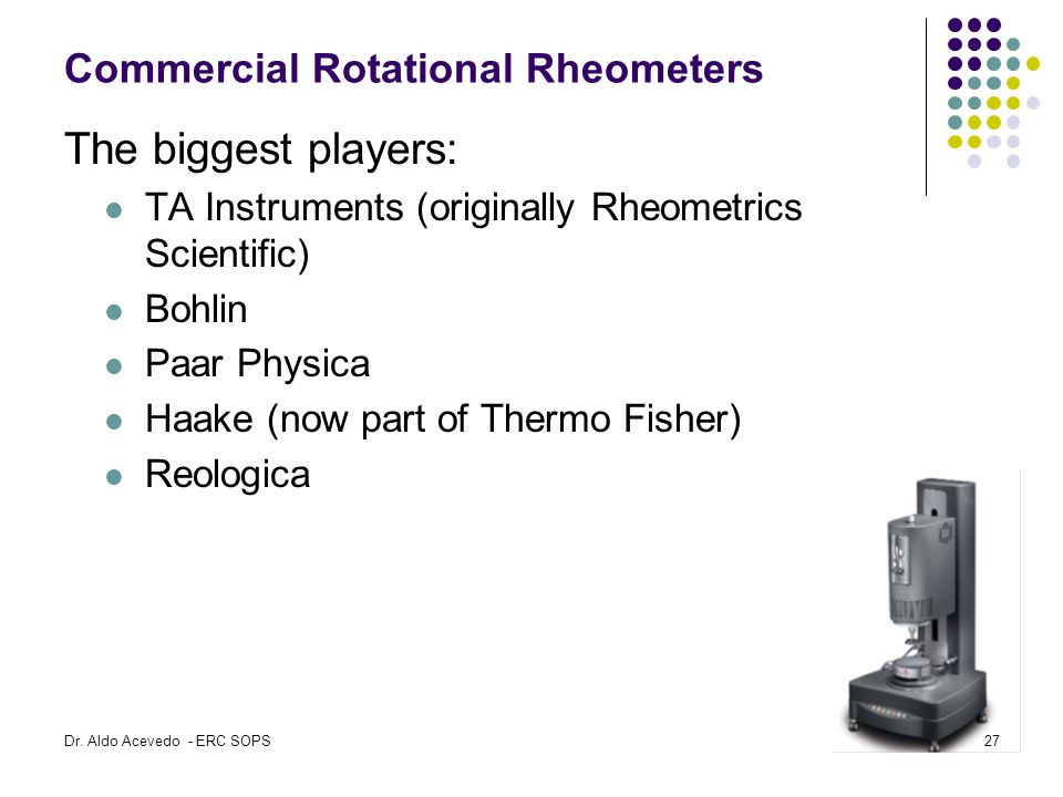 Commercial Rotational Rheometers
