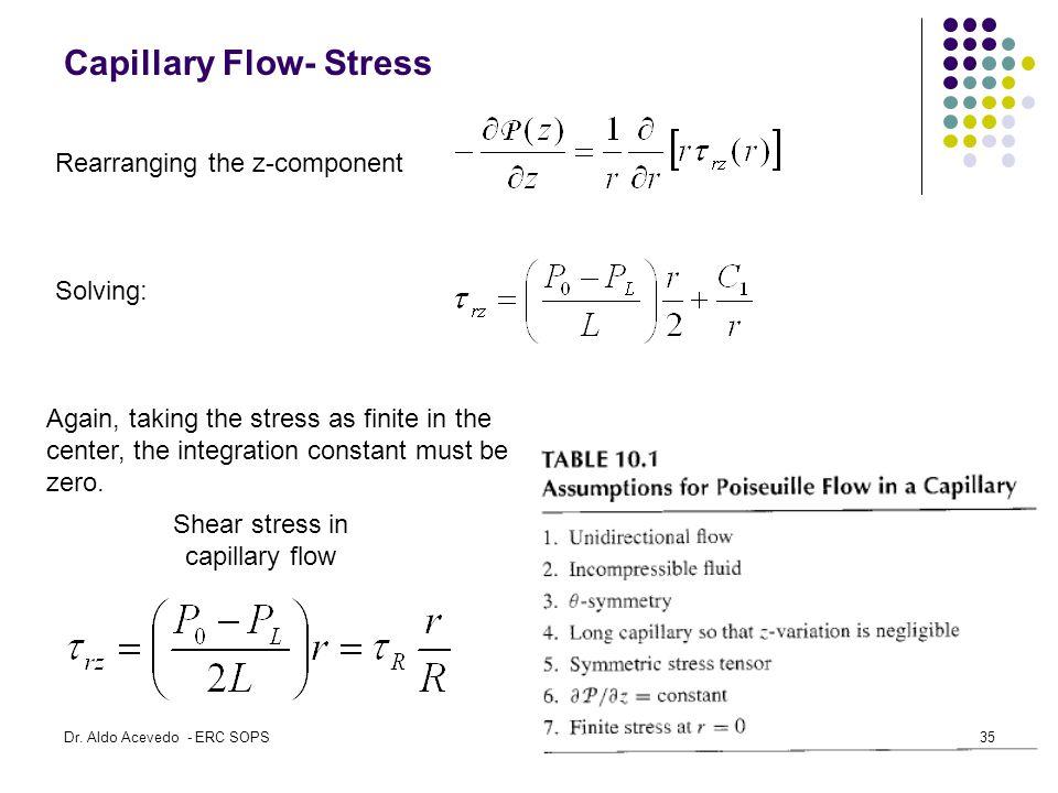 Capillary Flow- Stress