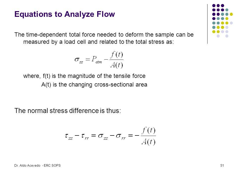 Equations to Analyze Flow
